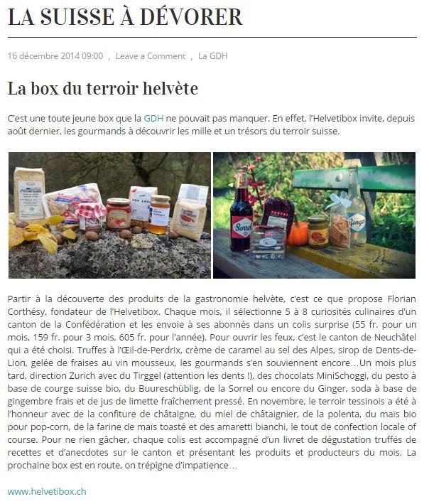 La Suisse à dévorer - La Box du terroir helvète