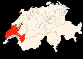 Carte de la Suisse (Canton des Grisons)