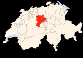Carte de la Suisse (Canton de Lucerne) (Poulpy Wikipedia)