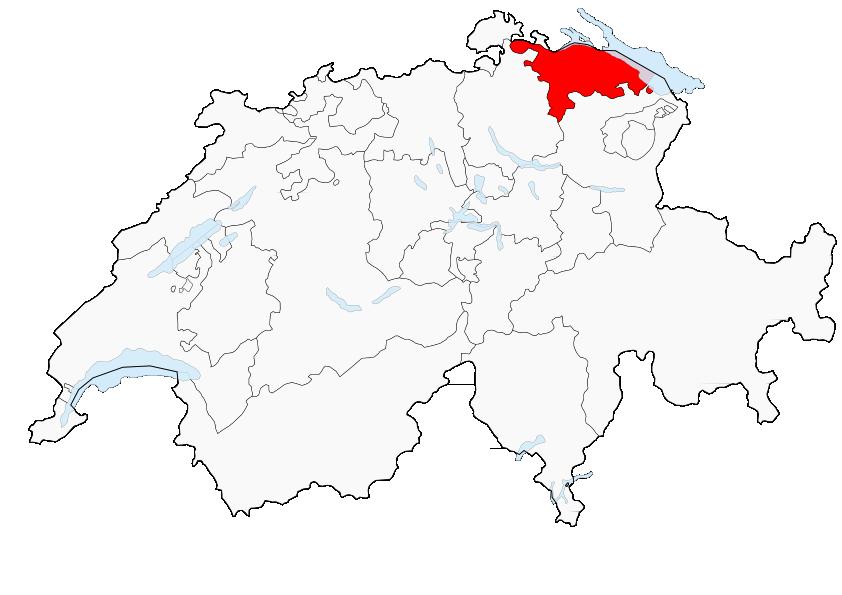 Carte de la Suisse (Canton de Thurgovie) (Image Poulpy wikipedia)