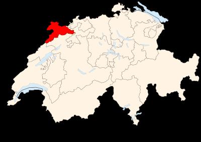 Carte de la Suisse (Jura) (image Wikimedia Commons Poulpy)