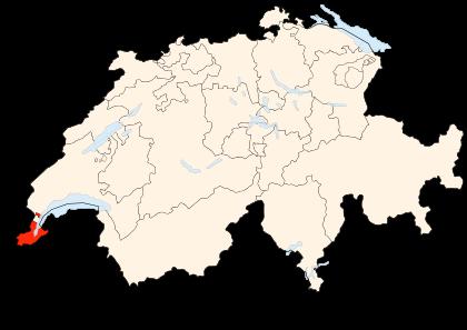 Carte de la Suisse (Canton de Genève)