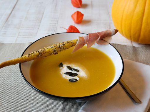Recette Soupe de courge et gressins aux graines de courge