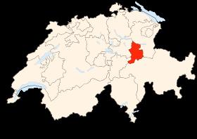 Carte de la Suisse (Glaris) (image Wikimedia Commons Poulpy)