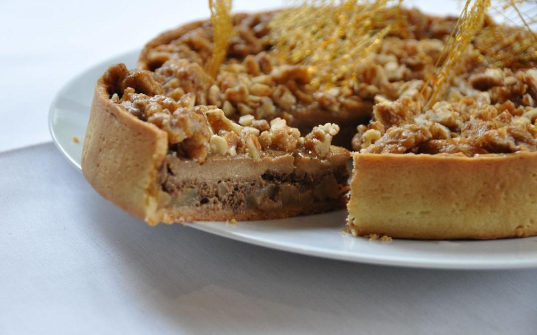 Recette La Tarte au Nillon de Noix et Pommes caramélisées