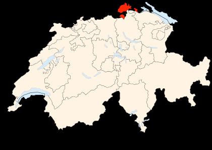 Carte de la Suisse (Schaffhouse) (© Wikimedia Commons Poulpy)