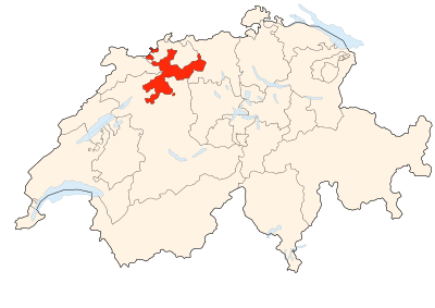 Carte de la Suisse (Canton de Soleure) (Image Poulpy Wikipedia)