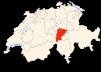 Carte de la Suisse (Canton de Uri) (Poulpy Wikipedia)
