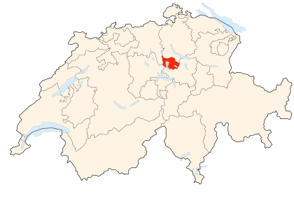 Carte de la Suisse (Canton de Zoug) (Poulpy Wikipedia)